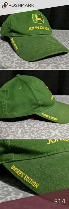 Genuine John Deere Adult Overalls With Green Yellow Beanie Package Gift Overall