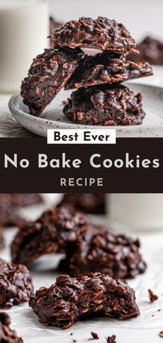 Easy to make and so easy to eat they'll be gone in a flash! These No Bake Cookies are the *BEST EVER*! Sweet chocolate combined with salty peanut butter held together by delicious oatmeal, these No Bake cookies are to die for! Best No Bake Cookies, Fun Cookies, Sugar Cookies, Creamy Peanut Butter, Natural Peanut Butter, Fun Desserts, Dessert Recipes, Best Christmas Desserts, Cookie Calories