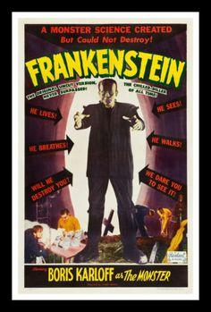 Frankenstein CineMasterpieces Monster Horror Original Vintage Movie Poster 1951 | eBay $9995.00