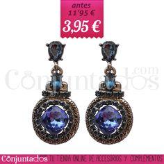 Pendientes gris plata con cristales y strass azul ★ 3'95 € en https://www.conjuntados.com/es/outlet/pendientes-colgantes-gris-plata-con-cristales-y-strass-azul.html ★ #pendientes #earrings #rebajas #discounts #sales #soldes #descuentos #conjuntados #conjuntada #joyitas #lowcost #jewelry #bisutería #bijoux #accesorios #complementos #moda #fashion #fashionadicct #fashionblogger #blogger #picoftheday #outfit #estilo #style #GustosParaTodas #ParaTodosLosGustos