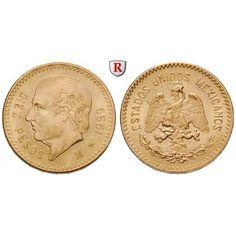 Mexiko, Vereinigte Staaten, 10 Pesos 1959, 7,5 g fein, bfr.: Vereinigte Staaten seit 1905. 10 Pesos 22,24 mm 7,5 g fein, 1959.… #coins