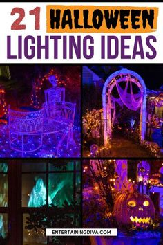 These Halloween decor ideas for outside are awesome! I love how these easy outdoor lighting can turn your yard into a cool and scary Halloween haunt. Halloween Graveyard, Halloween Scene, Halloween Banner, Halloween Haunted Houses, Halloween Birthday, Outdoor Halloween, Scary Halloween, Halloween Lighting, Haunted House Decorations
