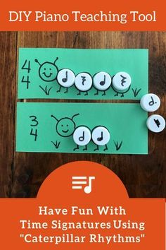 Reinforce Understanding Of Time Signatures With DIY Caterpillar Cards! | Teach Piano Today #FavoritePianoPlayingTips
