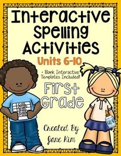 Interactive Spelling Activities Units 6-10: Grade 1