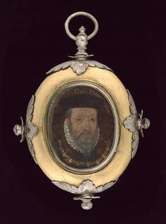 Flemish School, A double-sided portrait of James Hamilton, 2nd Earl of Arran, Duke of Châtelherault (c.1517-75), wearing small white ruff, black hat and collar of the French Order of St. Michael and his son Lord John Hamilton (c.1535-1604), profile to the right, wearing black doublet and small white lace collar