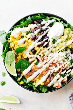 Chicken Burrito Bowls are loaded with corn, black beans, rice, chicken, guac, sour cream and an amazing dressing drizzled on top! These are great and healthy meal that you will love! Hi everyone! Chelsea from Chelsea's Messy Apron here with some delicious chicken burrito bowls! My family loves burritos in a bowl and it's one …