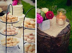 pretty backyard wedding