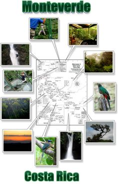 Monteverde Cloud Forest - free printable map