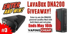 Win a DNA200 LavaBox Mod with 2 extra Grips from VapingCheap.com! Enter here: http://vapingcheap.com/2016/04/dna200-lavabox-giveaway-3/