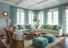 Best ideas to decorate your living room with turquoise accents (43)