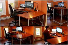 I rebuilt my popular ergonomic computer desk  #ergonomic #desk #pipedesk #pipefurniture