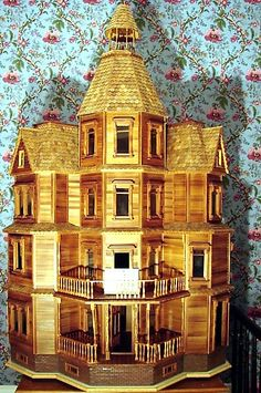 Mahoney DollHouse 145.JPG 404×609 pixels (jt-Victorian Tuesday House made of cedar and redwood)