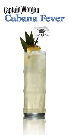 Be the Captain of the cabana this summer with this tasty recipe. Grab some Captain Morgan Pineapple Rum and mix up a Cabana Fever. #cocktail