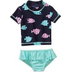 Child of Mine by Carter's Baby Toddler Girl Rash Guard Swim 2-Piece Set