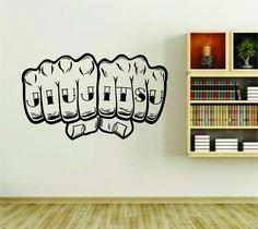 Jiu Jitsu Knuckle Tattoo Hand Vinyl Wall Decal Sticker Car Window Truck Decal