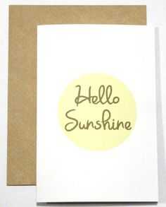 Hello Sunshine Card by CherryOnTopDsgns on Etsy