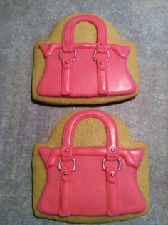 pink purse cookie