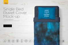 Single Bed Duvet Cover Mock-up by mesmeriseme.pro on @creativemarket
