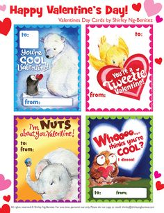 FREE Printable Valentineu0027s Day Cards For Kids. We Love To Illustrate