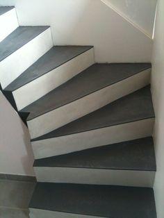 Maytop tiptop habitat habillage d escalier r novation d 39 escalier recouvrement d 39 escalier for Peinture pour escalier en beton