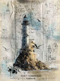 art. Aniva Lighthouse, Sakhalin, Russia