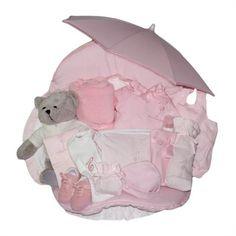 Canastilla Paseo Ensueño. Baby Gift Basket. La Cigüeña del Bebé