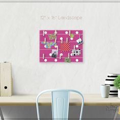A beautiful way to display your cards and memos and decorate any room. This display board can be hanged in a dorm, kids room, teens room, office, kitchen, family space and more. Personalization option. 10 design options. Hand painted canvas with wooden clothespins. #giftforher #Bulletinboard #cardsdisplay #pinkdot #polkadot #Pink #pinkroomdecor #girlsroom #giftforgirl #teensroom #officeorganizer #memoholder #homeorganizer #personalizedgift #giftforteens #freeshipping #christmasgift… Polkadot Pink, Pink Polka Dots, Baby Girl Gifts, New Baby Gifts, Polka Dot Room, Unique Gifts For Kids, Bat Mitzvah Gifts, Name Wall Art, Last Minute Christmas Gifts