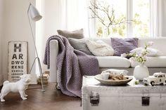 Kuscheldecke - Initiative Handarbeit Knitted Blankets, Diy And Crafts, Plaid, Throw Pillows, Knitting, Bed, Handmade, Home, Crochet