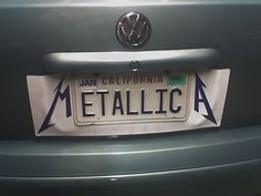 METALLICA  License Plate. I think they are fans! :) #driving #plates #funny #metallica