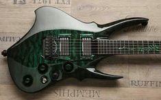 Ty's Green Dragon by Zerberus Guitars - Beautiful Guitars. This guitar is magnificent! Jazz Guitar, Guitar Art, Music Guitar, Cool Guitar, Playing Guitar, Guitar Room, Unique Guitars, Custom Guitars, Vintage Guitars