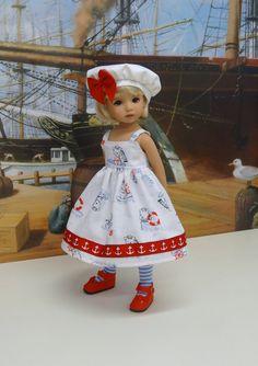 Ours marin  robe d'été et beret pour POUPEE par darlinglilbee