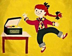 Vinyl record art (1955) music