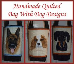 Choice of dog breed quilted tote bags van woosbagsandcrafts op Etsy, £7.00