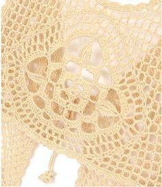 crop top crochet women lace tank top summer by Tinacrochetstudio
