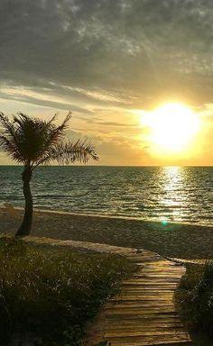 Sunrise on Long Bay Beach, Turks & Caicos. A peaceful alternative to Grace Bay Beach.