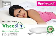 #SpringwelMattress introduces the All New #ViscoSlim #MemoryFoam #Pillow for the perfect support to your head and neck. Call us at: +91 9555221100 to BUY NOW! T&C Apply.