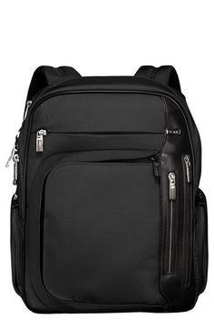 Free shipping and returns on Tumi 'Arrive - Kingsford' Backpack at Nordstrom.com. Tumi's Kingsford backpack is a smooth fusion of sleek, contemporary design and the hyper-intelligent functionality for which Tumi is known. High-tenacity HTLS® polyester is engineered to withstand whatever your world-hopping habits throw at it—the low-shrinkage, luggage-grade fabric holds up through a broad range of temperature and weather changes and always maintains its shape. Throw in the chrome highlights…