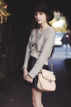 Love the sweater and purse!!