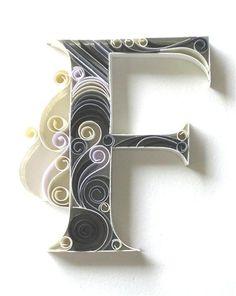 f letras con hojas de colores - Buscar con Google