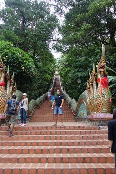 Going for some exercise, Wat Phrathat Doi-Suthep, Chiang Mai, Thailand
