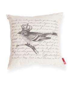 Royal Bird Decorative Linen Throw Pillow
