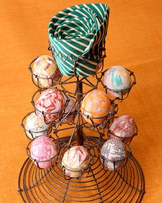 Martha's Silk Tie Easter Eggs.   This does really work, even if you aren't Martha Stewart.