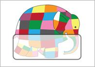 Elmer the Elephant Self Registration Labels
