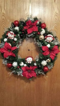 Red, White, Black and Silver wreath