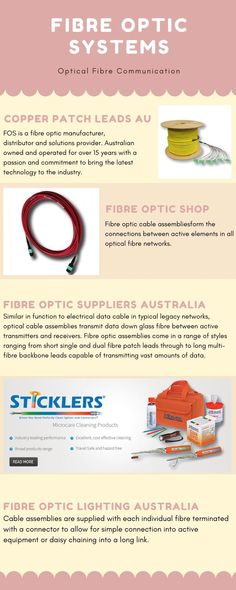 Cable assemblies are supplied with each individual fibre terminated with a connector to allow for simple connection into active equipment or daisy chaining into a long link. Fiber Optic Lighting, Fiber Optic Cable, Communication, Connection, Daisy, Technology, Simple, Link, Tech