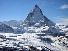 Matterhorn.  Skiing from Cervinia Italy to Zermatt, Switzerland over the Matterhorn.  One of the best experiences of my life.