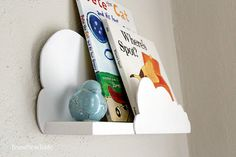 Whimsical Cloud Shelf for nursery / baby by BrandNewToMe on Etsy As seen in the spring/summer 2015 etsy look book!
