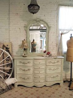 Painted Cottage Chic Shabby Sage Romantic by paintedcottages,