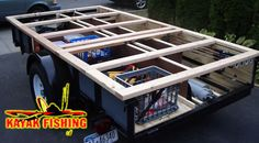 Pvc pick up truck rack for canoe or kayak such a good for Harbor freight fishing cart