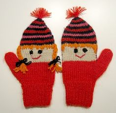 Knit Mittens, Knitted Hats, Knitting Accessories, Knitting For Kids, Christmas Knitting, Vintage Knitting, Gloves, Bonnets, Cozy